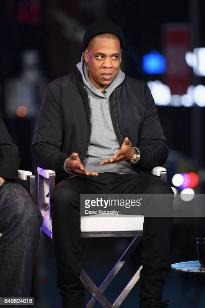 Jay Z speaks onstage during TIME AND PUNISHMENT A Town Hall Discussion with JAY Z and Harvey Weinstein on Spike TV at MTV Studios on March 8 2017 in...