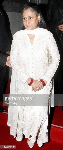 Jaya Bachchan at designers Abu Jani and Sandeep Khosla's 25th year bash at the Grand Hyatt Mumbai