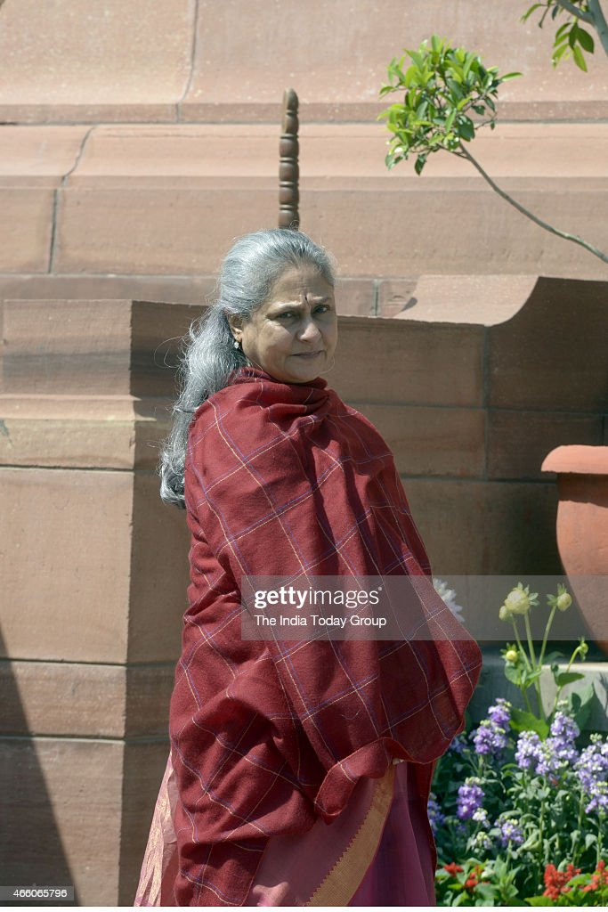 <a gi-track='captionPersonalityLinkClicked' href=/galleries/search?phrase=Jaya+Bachchan&family=editorial&specificpeople=1026829 ng-click='$event.stopPropagation()'>Jaya Bachchan</a> at Parliament during Parliament Budget Session.