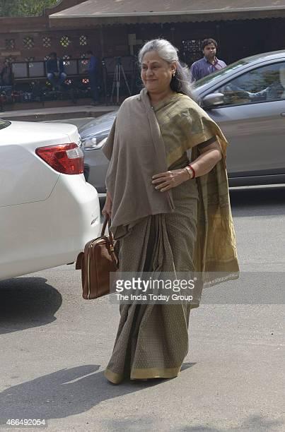 Jaya Bachchan at Parliament during Parliament Budget Session