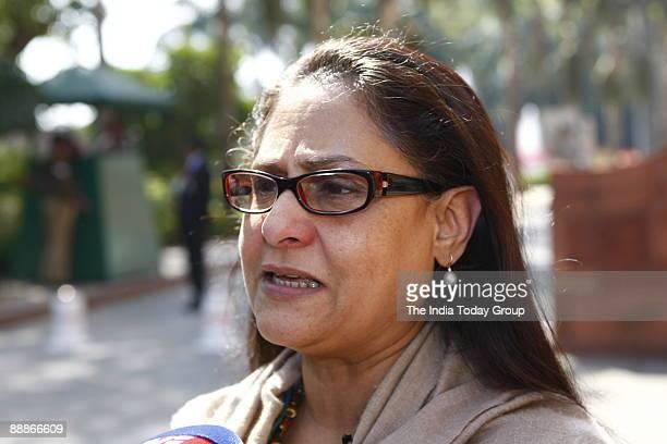 Jaya Bachchan Samajwadi Pary MP at Parliament House in New Delhi India