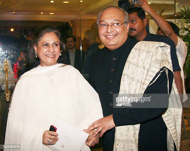 Jaya Bachchan with celebrity photographer Gautam Rajadhakshya at the launch of his book 'Chehere' in Mumbai on June 18 2010