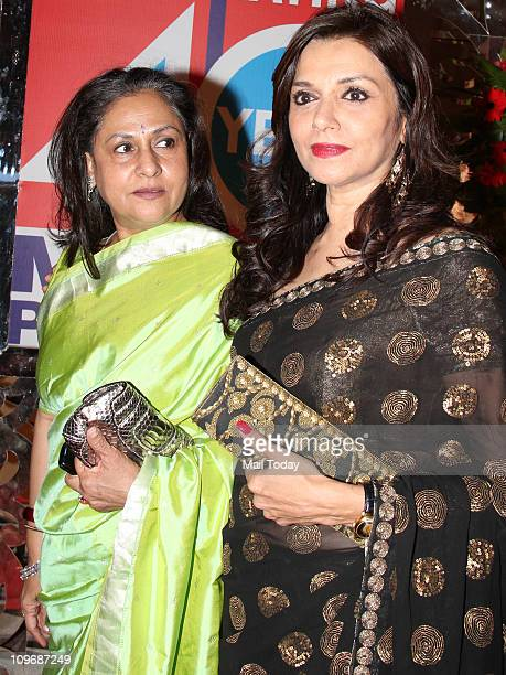 Jaya Bachchan with Lilette Dubey at 40th Year of Magna Publishing anniversary bash at Breach Candy Mumbai