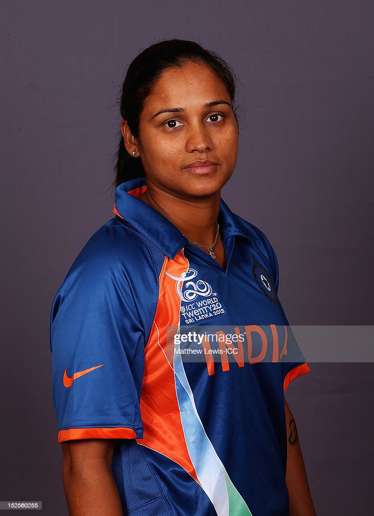 Jaya Sharma of India Womens Cricket Team poses for a portrait ahead of the Womens ICC World T20 at the Galadari Hotel on September 22, 2012 in Colombo, Sri Lanka.