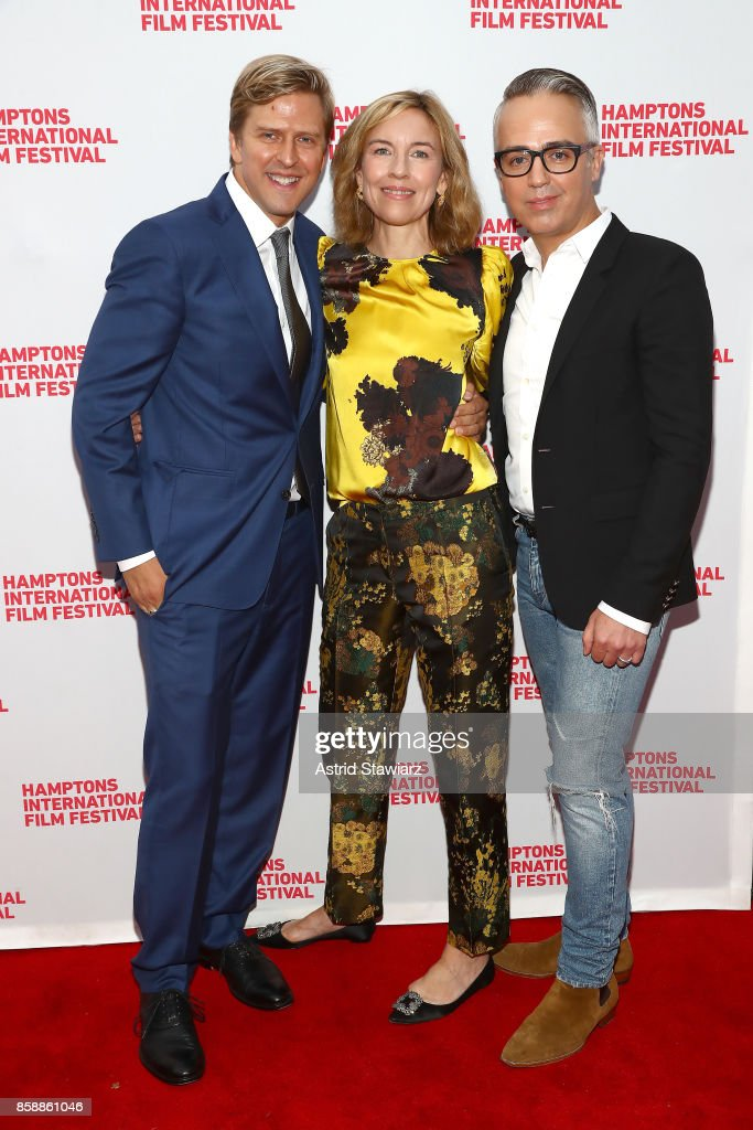 Jayce Bartok, Bronwyn Cosgrave; Troy Surratt attend the photo call for 'Larger Than Life, The Kevyn Aucoin Story' during Hamptons International Film Festival 2017 - Day Three on October 7, 2017 in East Hampton, New York.
