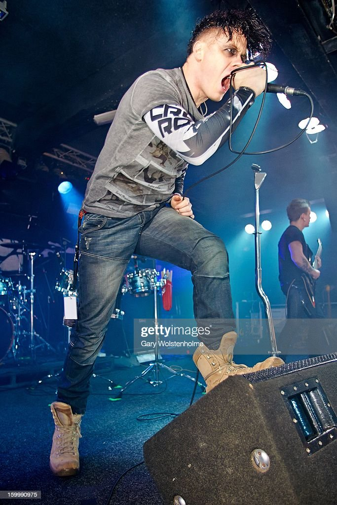 Jayce Lewis performs on stage at the Corporation on January 24, 2013 in Sheffield, England.