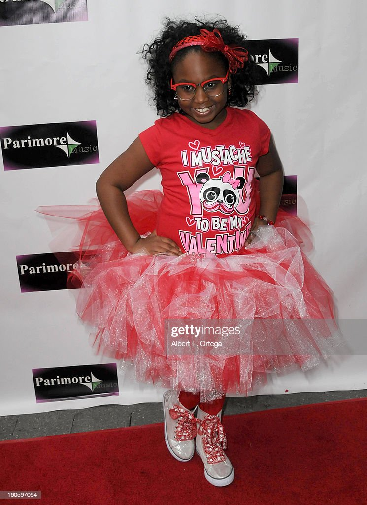 Jayda Brown arrives for the All Ages Valentine Bash 2013 held at Infusion Lounge on February 2, 2013 in Universal City, California.