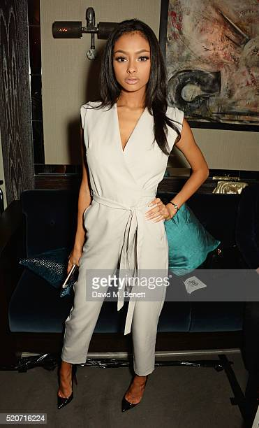 Jayde Pierce attends Fashion Targets Breast Cancer's 20th Anniversary Party at 100 Wardour St on April 12 2016 in London England