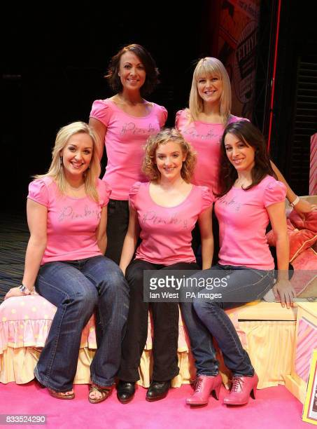 Jayde Westaby and Susan McFadden Laurie Scarth Charlie Cameron and Alana Phillips from Grease the Musical are seen wearing limited edition MS tshirts...