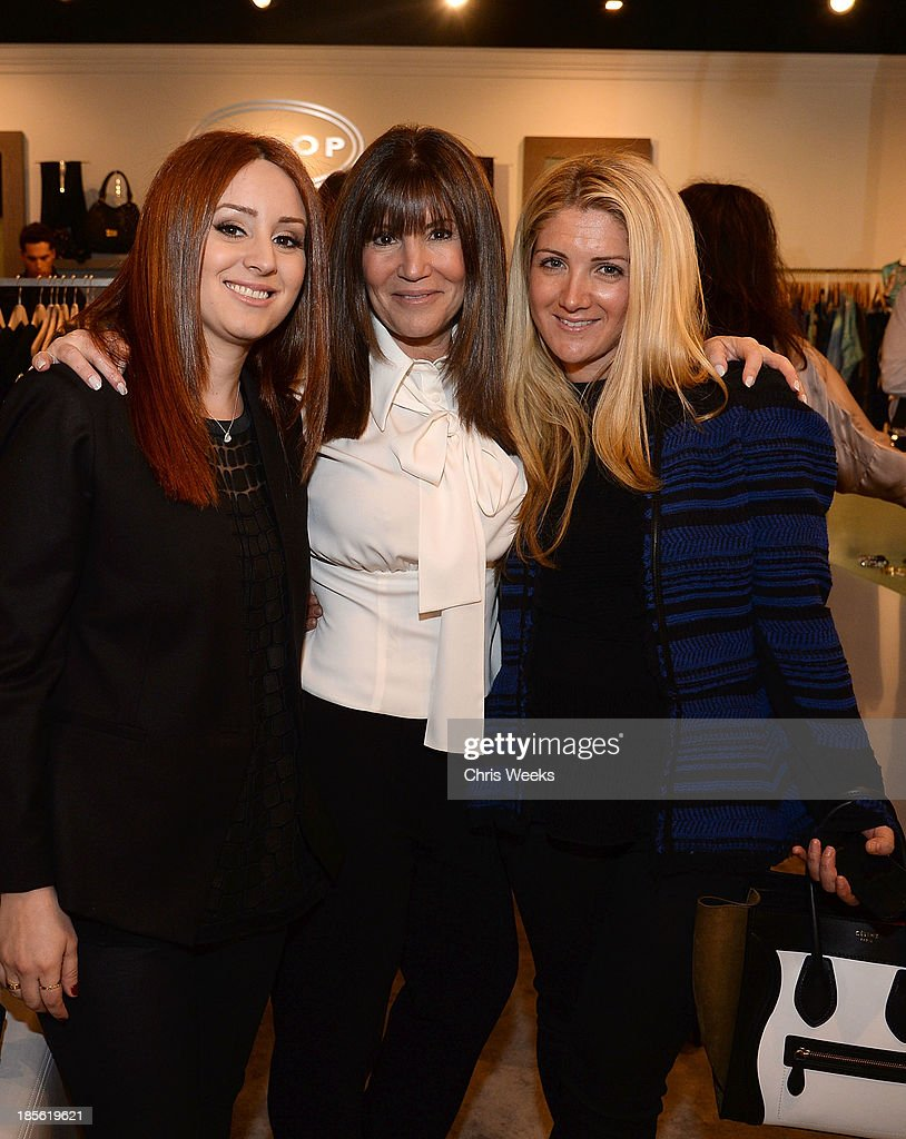 Jaye Azoff, Shelli Azoff and Allison Azoff Statter attend the Scoop NYC event at Scoop NYC on October 22, 2013 in Beverly Hills, California.