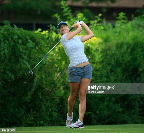 Jaye Marie Green hits her drive on the 16th hole during the second round of the Marathon Classic Presented By Owens Corning And OI held at Highland...