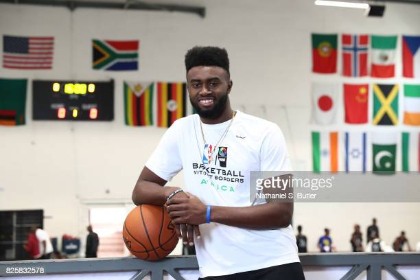 Jaylen Brown of Team World poses for a portrait as part of the Basketball Without Borders Africa at the American International School of Johannesburg...