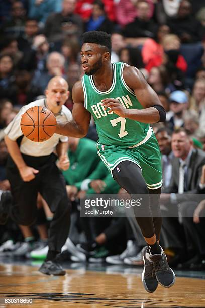 Jaylen Brown of the Boston Celtics handles the ball during a game against the Memphis Grizzlies on December 20 2016 at FedExForum in Memphis...