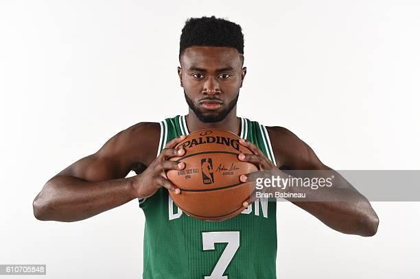 Jaylen Brown of the Boston Celtics poses for a portrait during 20162017 Boston Celtics Media Day at TD Garden on September 26 2016 in Boston...
