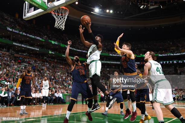 Jaylen Brown of the Boston Celtics shoots a lay up during the game against the Cleveland Cavaliers during Game One of the Eastern Conference Finals...