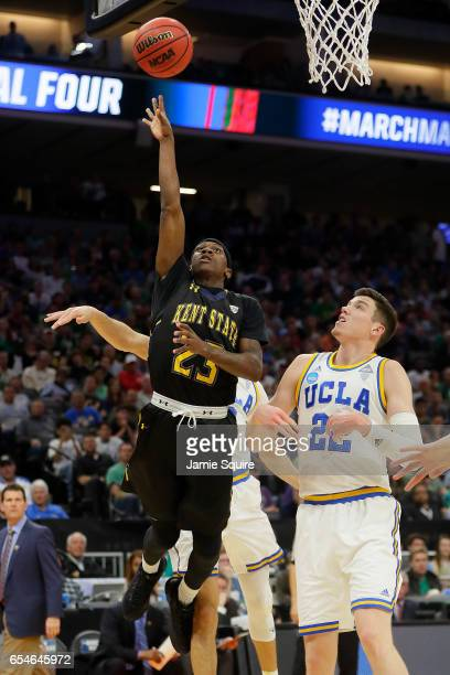 Jaylin Walker of the Kent State Golden Flashes attempts a shot against the UCLA Bruins during the first round of the 2017 NCAA Men's Basketball...