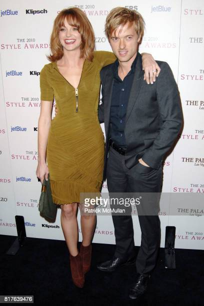 Jayma Mays and Adam Campbell attend 2010 HOLLYWOOD STYLE AWARDS at Hammer Museum on December 12 2010 in Westwood California