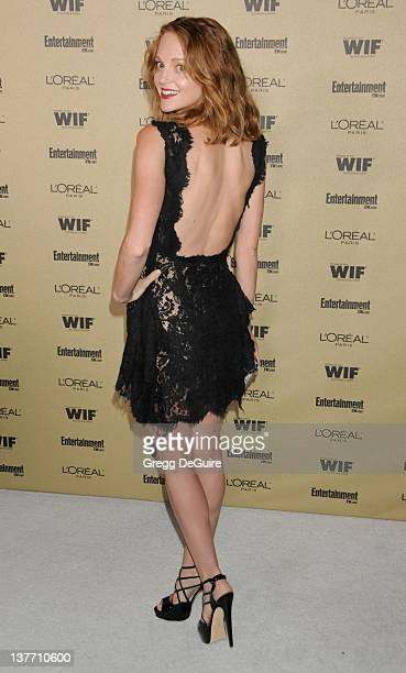 Jayma Mays arrives at the Entertainment Weekly and Women In Film PreEmmy Party at the 'Restaurant' at the Sunset Marquis Hotel on August 27 2010 in...