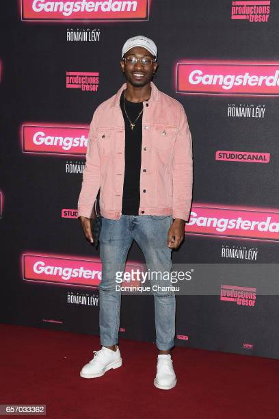 Jaymax attends the 'Gangsterdam' Paris Premiere at Le Grand Rex on March 23 2017 in Paris France