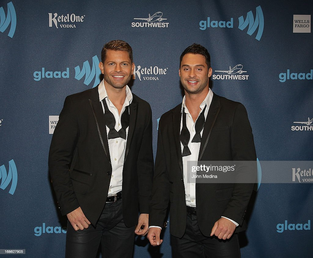 Jaymes Vaughan and James Davis attend the 24th Annual GLAAD Media Awards at the Hilton San Francisco - Union Square on May 11, 2013 in San Francisco, California.