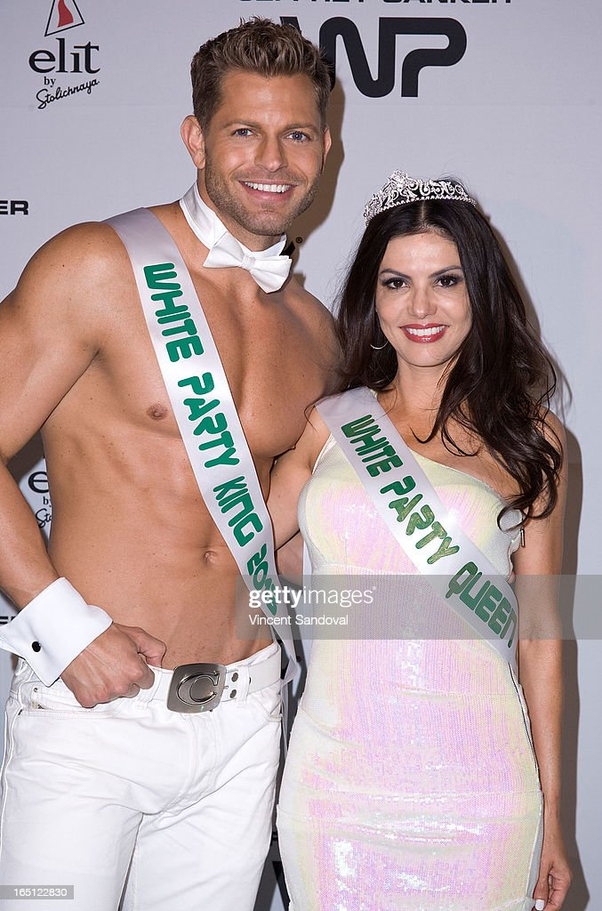 Jaymes Vaughan and TV personality Adriana De Moura attend The White Party during Jeffrey Sanker Presents White Party Palm Springs 2013 - Day 2 at the Convention Center on March 30, 2013 in Palm Springs, California.