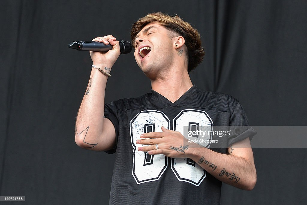 Jaymi Hensley of the band Union J performs on stage at Allstarz Summer Party 2013 at Madejski Stadium on June 1, 2013 in Reading, England.