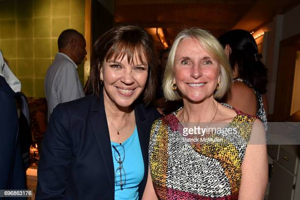 Jayne and Guest attend Cocktails to Learn About The Sag Harbor Cinema Project at Le Bilboquet on June 16 2017 in Sag Harbor New York