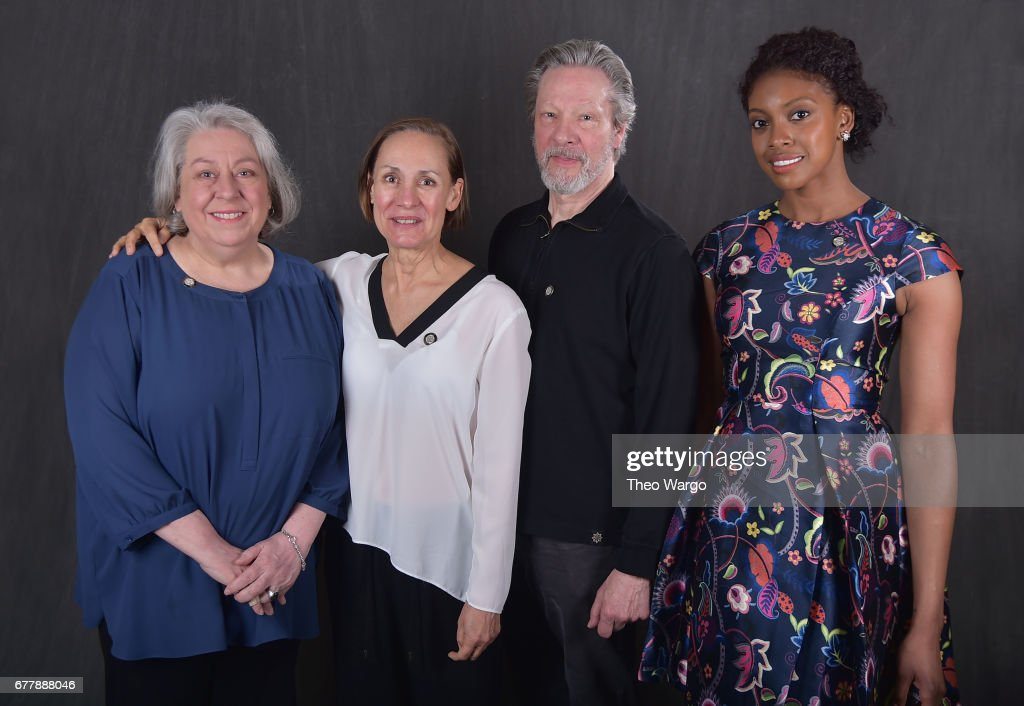 Jayne Houdyshell, Laurie Metcalf, Chris Cooper and Condola Rashad pose at the 2017 Tony Awards Meet The Nominees press junket portrait studio at Sofitel New York on May 3, 2017 in New York City.