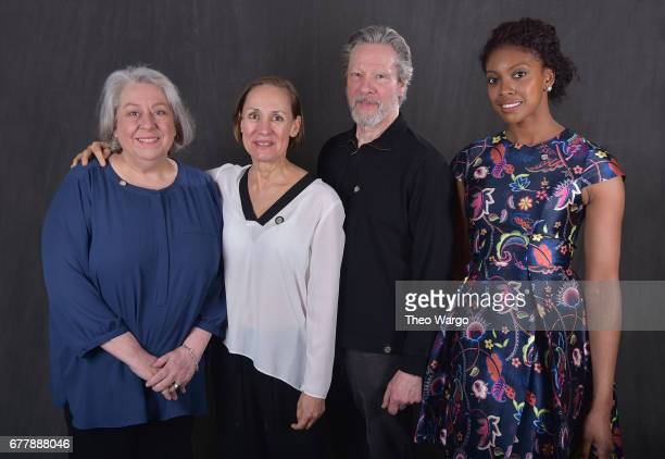 Jayne Houdyshell Laurie Metcalf Chris Cooper and Condola Rashad pose at the 2017 Tony Awards Meet The Nominees press junket portrait studio at...