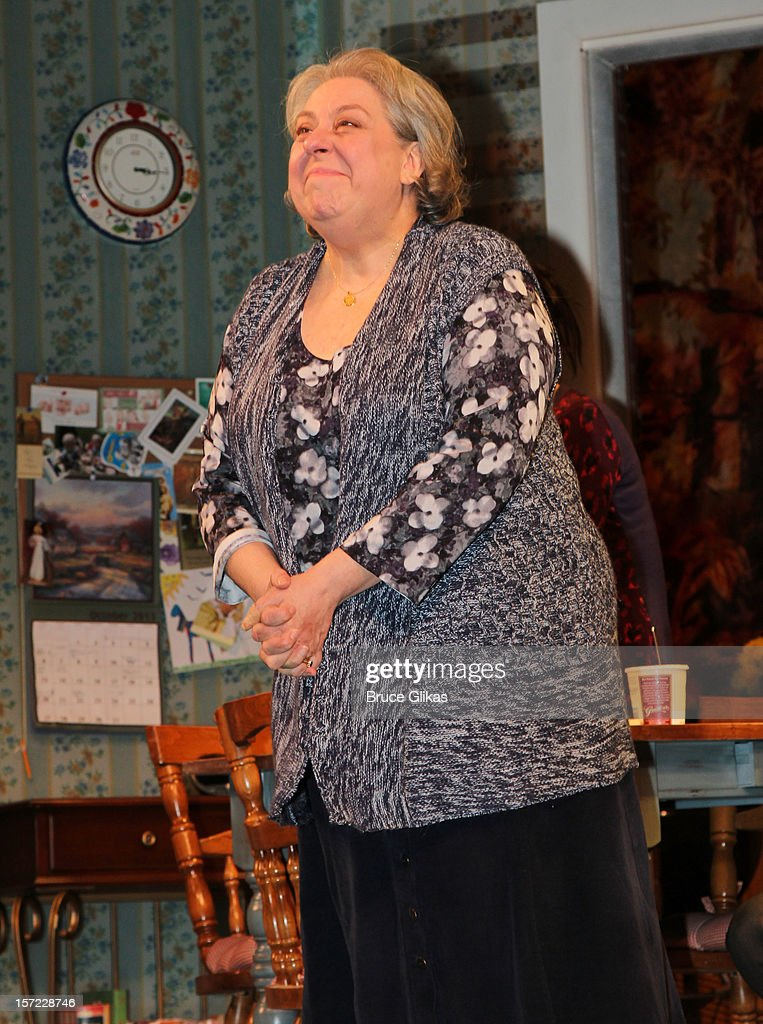 Jayne Houdyshell takes her curtain call on Opening Night of 'Dead Accounts' on Broadway at The Music Box Theatre on November 29, 2012 in New York City.