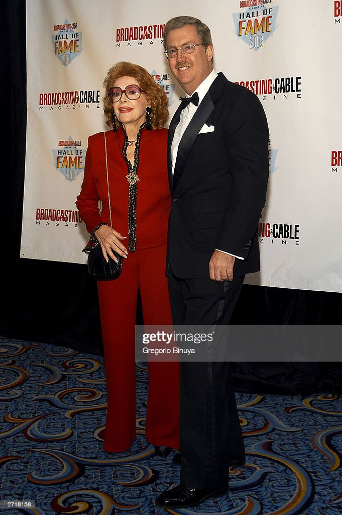 <a gi-track='captionPersonalityLinkClicked' href=/galleries/search?phrase=Jayne+Meadows&family=editorial&specificpeople=93583 ng-click='$event.stopPropagation()'>Jayne Meadows</a> and Bill Allen, son of Steve Allen, attend the 13th Annual Broadcasting & Cable Magazine Hall of Fame November 10, 2003, in New York. Steve Allen is one of the posthumous inductees at the gala.