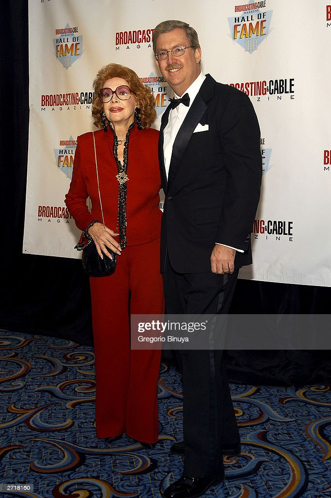 Jayne Meadows and Bill Allen, son of Steve Allen, attend the 13th Annual Broadcasting & Cable Magazine Hall of Fame November 10, 2003, in New York. Steve Allen is one of the posthumous inductees at the gala.