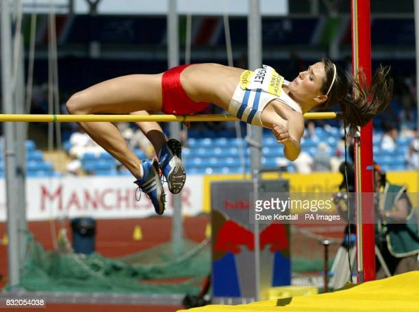 Atheltics Norwich Union European Trials And Aaa Championships Manchester Ed Julia Bennett Clears The Bar In The Womens High Jump Final