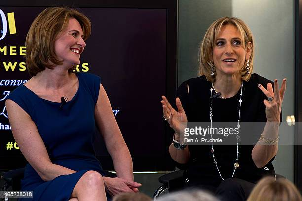 Jayne Secker and Emily Maitlis attends the #Grazia10 talk 'News at 10' with Christina Lamb Jayne Secker Sue Turton Emily Maitlis and chaired by...