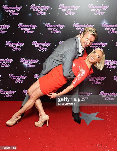Jayne Torvill and Chistopher Dean attend a photocall for the launch of Dancing on Ice 2013 at The London Television Centre on January 3 2013 in...