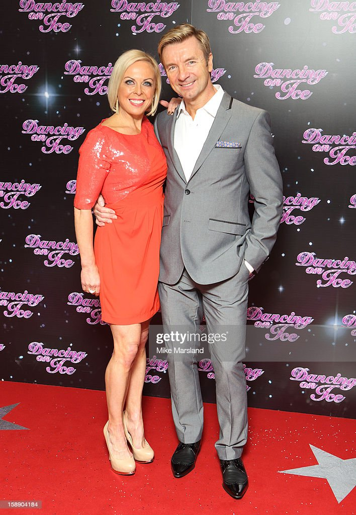 <a gi-track='captionPersonalityLinkClicked' href=/galleries/search?phrase=Jayne+Torvill&family=editorial&specificpeople=242804 ng-click='$event.stopPropagation()'>Jayne Torvill</a> and Chistopher Dean attend a photocall for the launch of Dancing on Ice 2013 at The London Television Centre on January 3, 2013 in London, England.