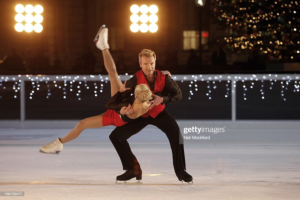 Diversity, Torvel And Dean Film Pop Video at Somerset House Ice Rink For ITV Text Santa