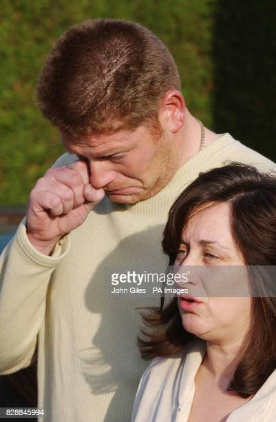 Jayne Walmsley the mother of murdered schoolboy Luke Walmsley speaks outside the family's home in North Somercotes Lincolnshire about her 14yearold...