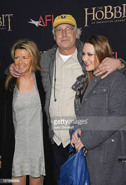 Jayni Chase actor Chevy Chase and Cydney Cathalene Chase attend 'The Hobbit An Unexpected Journey' premiere at the Ziegfeld Theater on December 6...