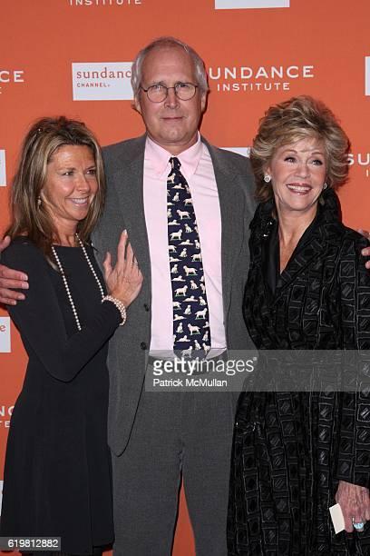 Jayni Chase Chevy Chase and Jane Fonda attend ROBERT REDFORD Hosts 2008 SUNDANCE INSTITUTE CELEBRATION FUNDRAISER at Roseland Ballroom at Roseland...
