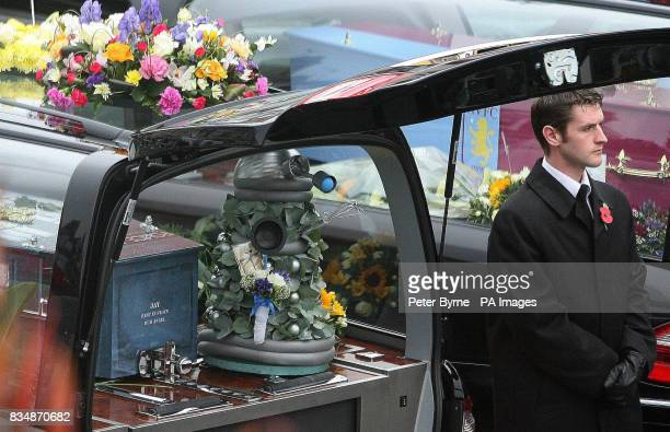 Jay's coffin shaped like a Tardis at the funeral of David and Michelle Statham and their four children at Our Lady Star of the Sea Catholic church in...