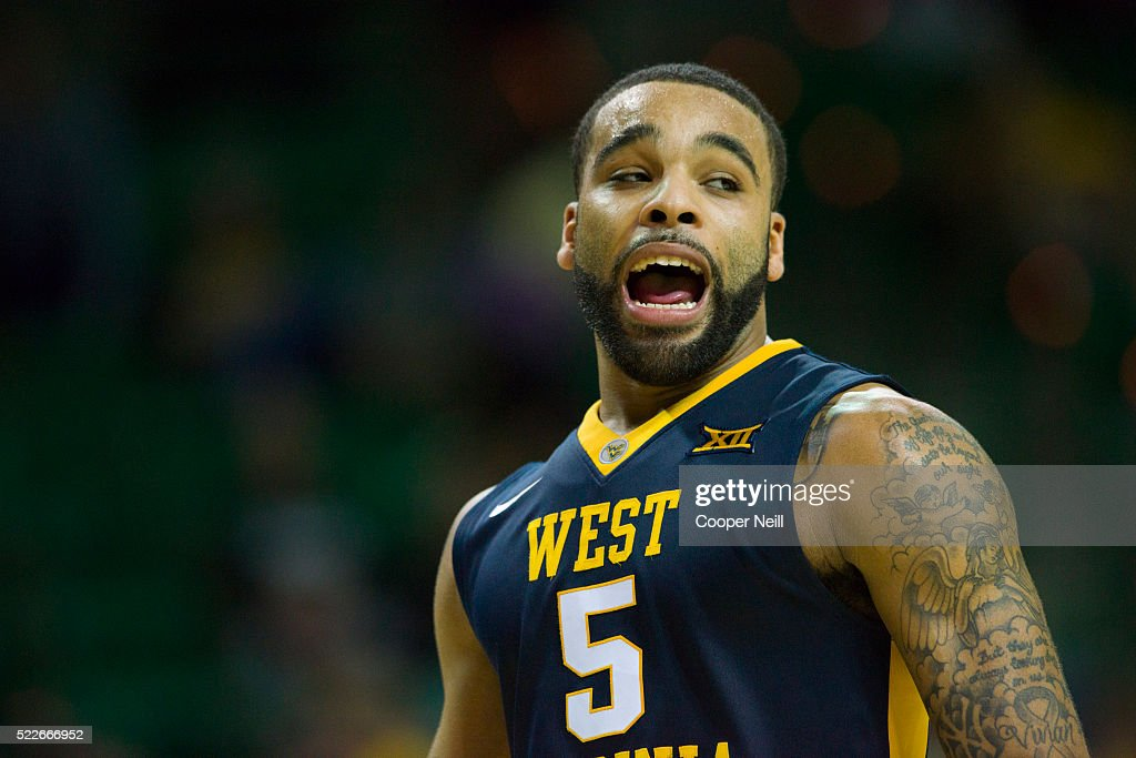 Jaysean Paige of the West Virginia Mountaineers looks on against the Baylor Bears on March 5 2016 at the Ferrell Center in Waco Texas