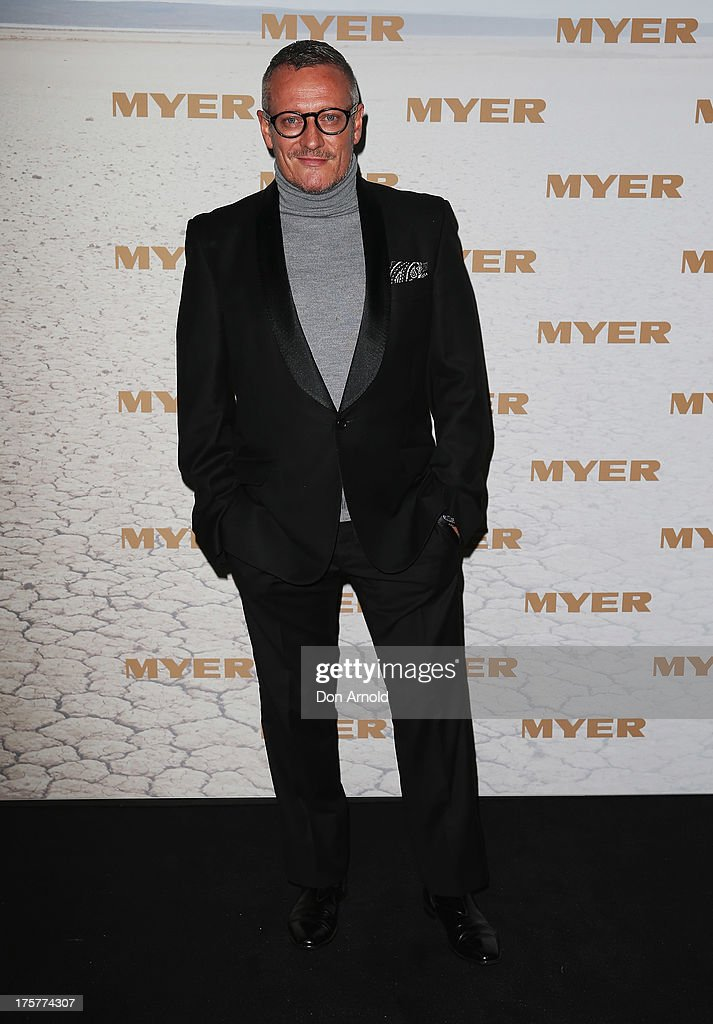 Jayson Brunsdon arrives at the Myer Spring/Summer 2014 Collections Launch at Fox Studios on August 8, 2013 in Sydney, Australia.