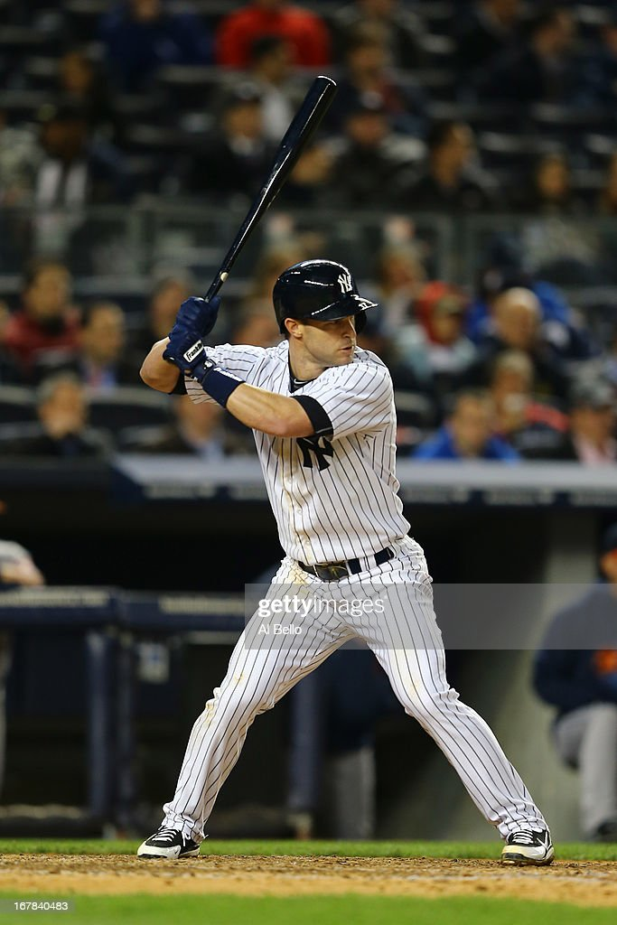 <a gi-track='captionPersonalityLinkClicked' href=/galleries/search?phrase=Jayson+Nix&family=editorial&specificpeople=836132 ng-click='$event.stopPropagation()'>Jayson Nix</a> #17 of the New York Yankees in action against the Houston Astros during their game on April 29, 2013 at Yankee Stadium in the Bronx borough of New York City