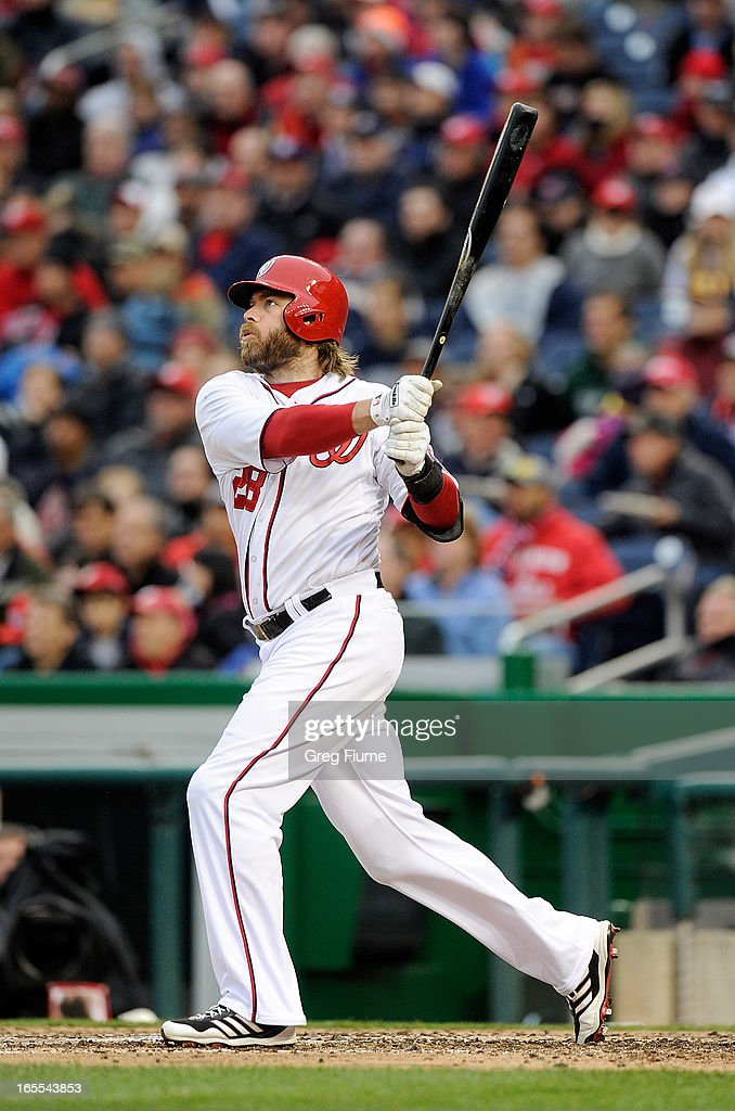 <a gi-track='captionPersonalityLinkClicked' href=/galleries/search?phrase=Jayson+Werth&family=editorial&specificpeople=206490 ng-click='$event.stopPropagation()'>Jayson Werth</a> #28 of the Washington Nationals hits a home run in the seventh inning against the Miami Marlins at Nationals Park on April 4, 2013 in Washington, DC.