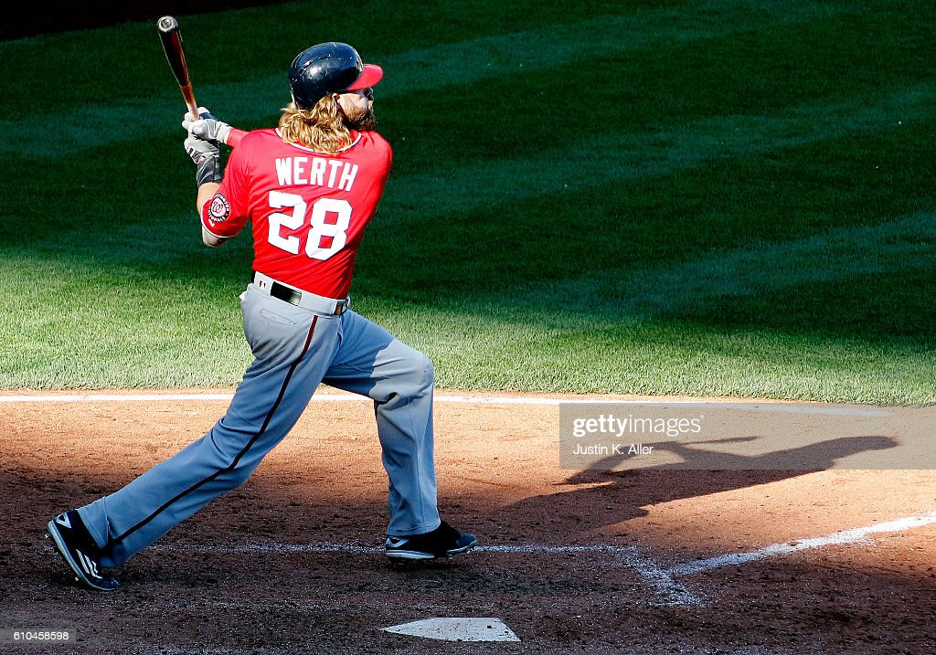 Jayson Werth 28 Of The Washington Nationals Hits A Two Run Home In