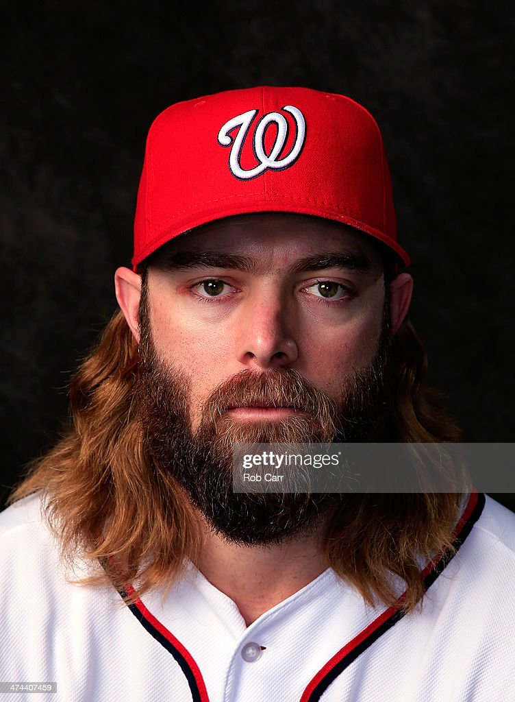 Jayson Werth #28 of the Washington Nationals poses for a portrait at Space Coast Stadium during photo day on February 23, 2014 in Viera, Florida.