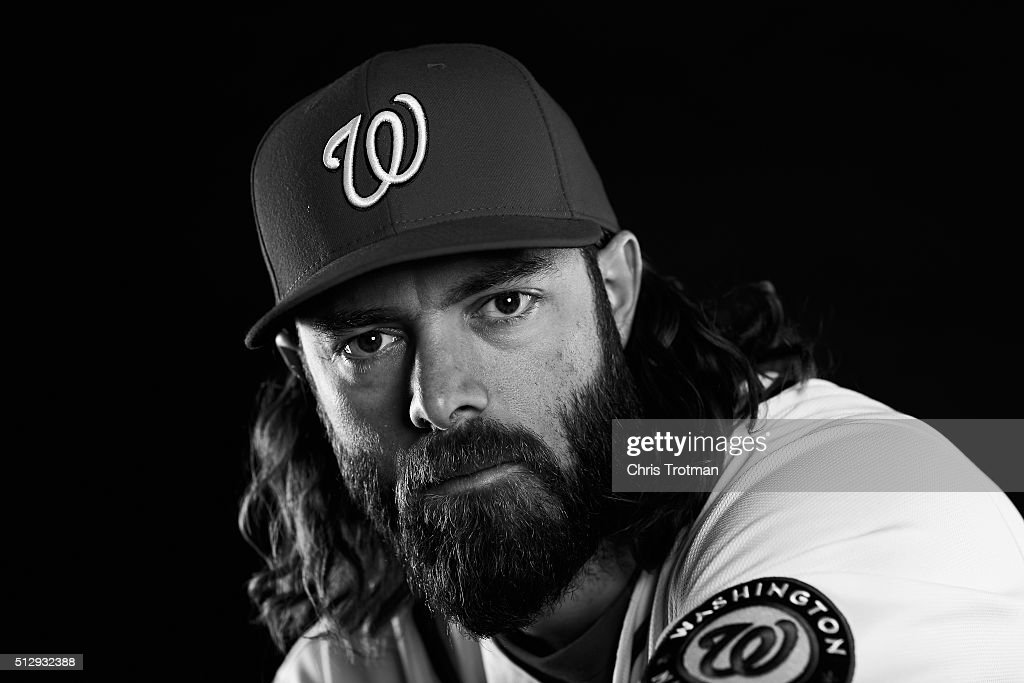 <a gi-track='captionPersonalityLinkClicked' href=/galleries/search?phrase=Jayson+Werth&family=editorial&specificpeople=206490 ng-click='$event.stopPropagation()'>Jayson Werth</a> #28 of the Washington Nationals poses for a portrait at Spring Training photo day at Space Coast Stadium on February 28, 2016 in Viera, Florida.