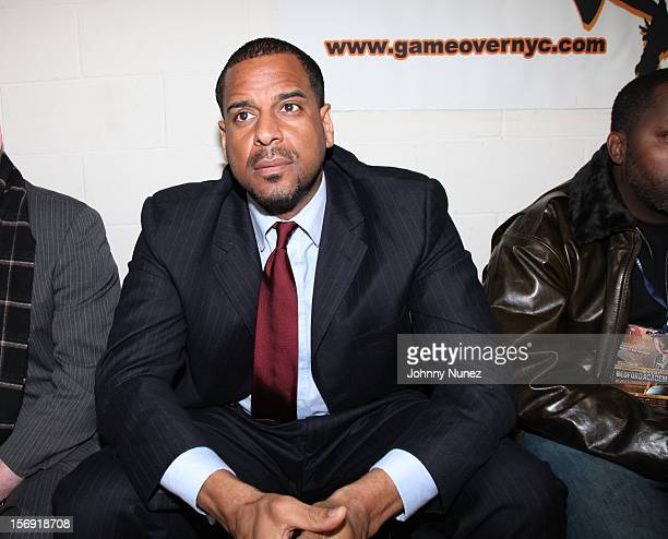 Jayson Williams attends the 2012 High School Basketball Showcase at Bedford Academy on November 24 2012 in the Brooklyn borough of New York City