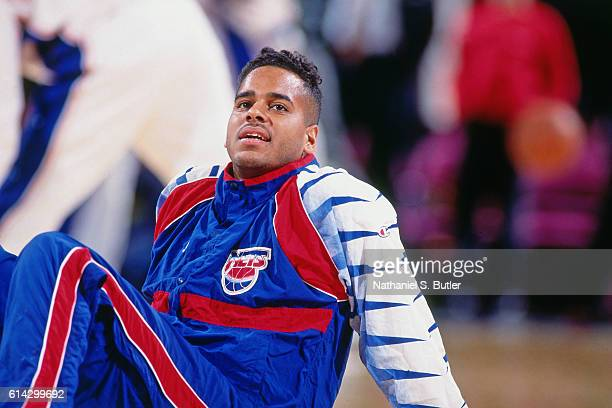 Jayson Williams of the New Jersey Nets looks on during a game played circa 1993 at Madison Square Garden in New York New York NOTE TO USER User...